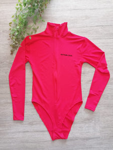 Poloneck Zip Up Long Sleeved Swimsuit