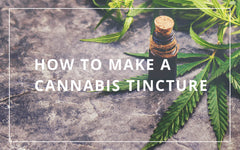 How to make cannabis tincture