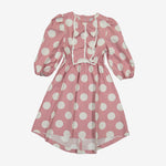 Hadas Cotton High Low Dot Dress