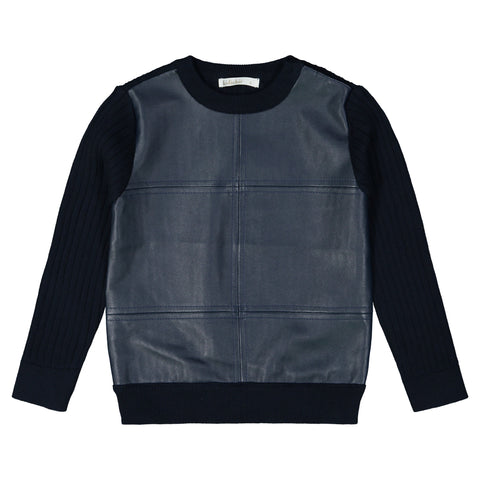Truro Boys Pleather Sweater