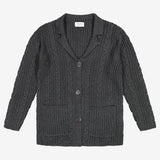 York Boys Braid Knit Cardigan