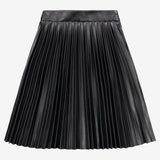Melange Pleather Pleats skirt