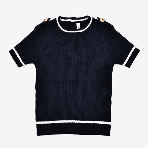 Little Boys Cotton Ribbed Top