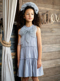 Hadas Tiered Cotton Tulle Bow Jumper
