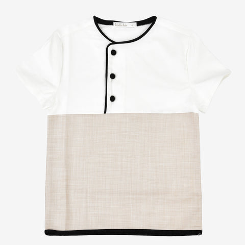 Boys Colorblock Piping Shirt