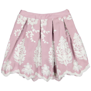 Dressy Skirt With Lace Patches