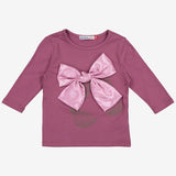 Girls Hair Bow Tee