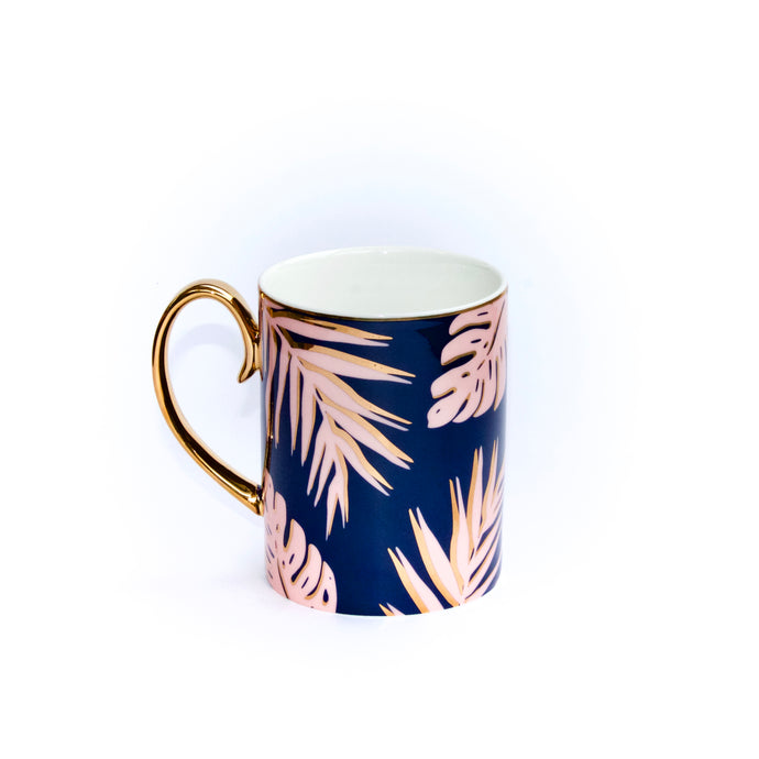 CRISTINA RE Blue Lagoon Gold Plated Luxury Mug