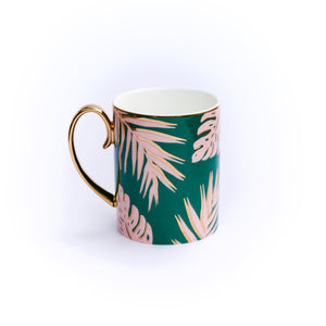 CRISTINA RE Emerald Island, Gold Plated Luxury Mug