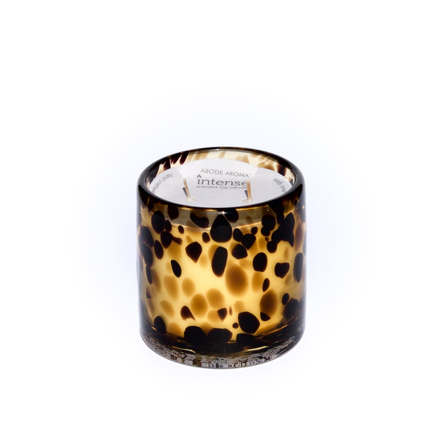 Intense Zanzibar Scented Soy Candle Sparkling Citrus, Peach & Vanilla Skilfully Leopard candle
