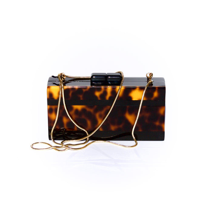 Bendel tortoise shell clutch