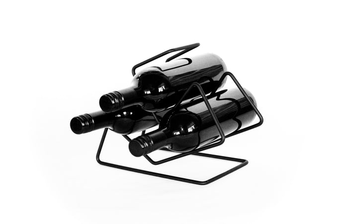 Buy black unique wine racks