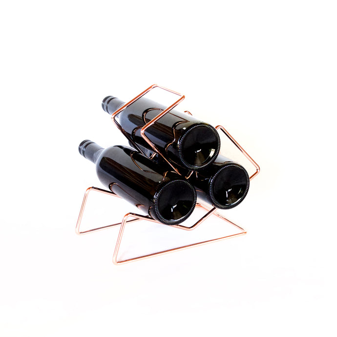 Buy unique rose gold wine racks