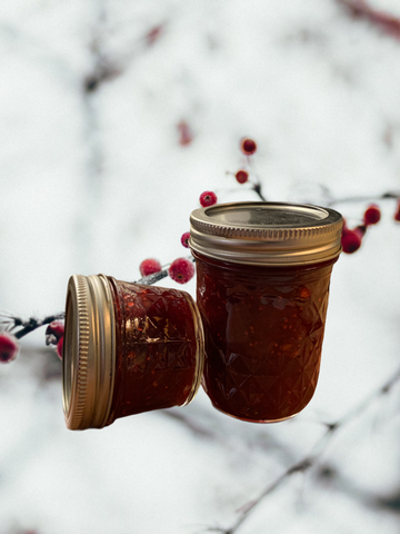 Cranberry Sauce in Jars