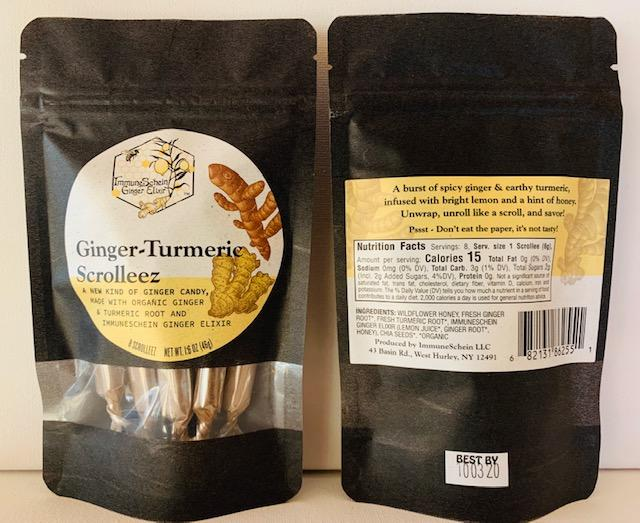 *NEW* ImmuneSchein's Ginger Turmeric Scrolleez *2020 Good Food Awards Winner* Scrolleez ImmuneSchein Ginger Elixirs