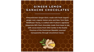 *NEW* Lemon Ginger Chocolate Ganaches - ImmuneSchein & Fruition Chocolate Works Chocolates ImmuneSchein Ginger Elixirs
