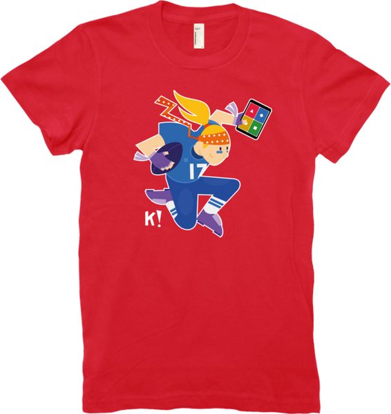 "Kahoot! ""Nancy from the Curious K!rew"" women's t-shirt"