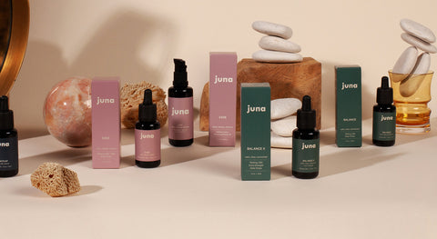 all juna cbd products on a table
