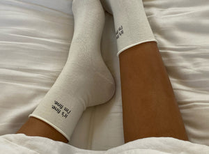 It's fine. I'm fine funny women's socks by Juna