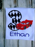 Cars Lightning McQueen 3rd Birthday Shirt