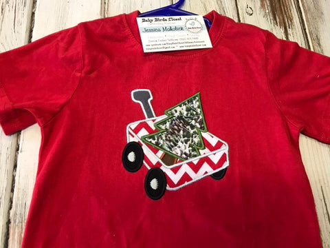 Red Short Sleeve Christmas Shirt size 3T