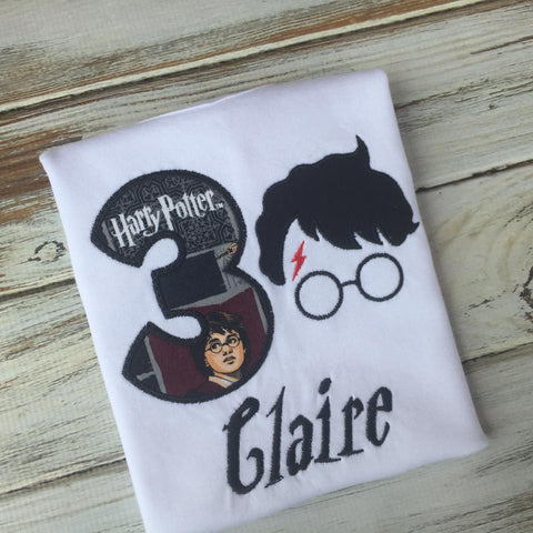 Harry Potter inspired birthday shirt or onesie