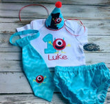 Monster Smash cake outfit, 1st birthday outfit