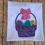 Girls Easter basket shirt