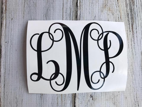 Custom name or monogram Decals