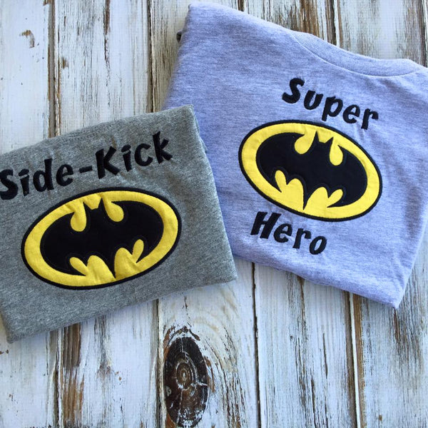 Super Hero and Side Kick shirts