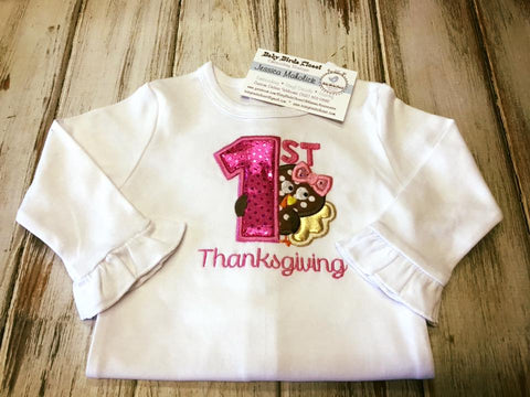 Girls My 1st Thanksgiving long sleeve onesie size 3-6 months SALE