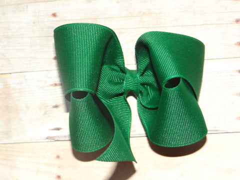 Large Hunter Green Boutique Bow