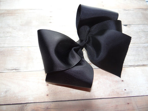 Large Black Boutique Bow