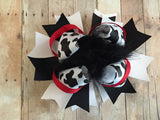 Over The Top Cow Print Bow
