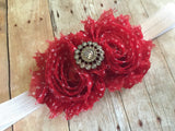 Red polkadot Headband