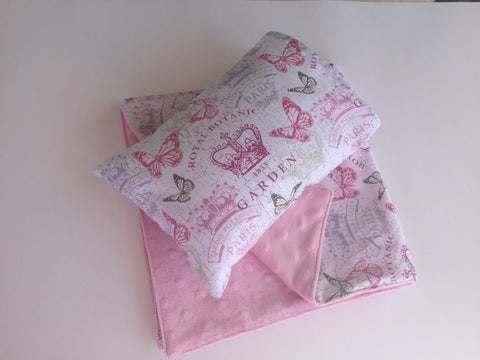 Doll Pillow and Blanket set