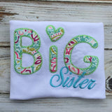 Size 3T short sleeve Big sister shirt