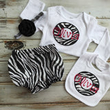 Zebra Print Monogrammed Outfit