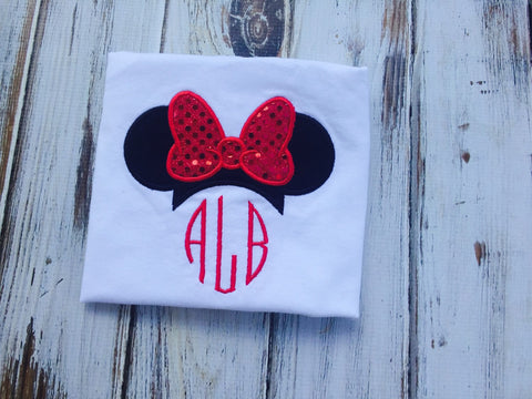 Monogrammed Ms Mouse Shirt