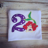 Mermaid 2nd Birthday Shirt