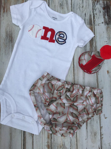 Baseball 1st birthday smash cake outfit