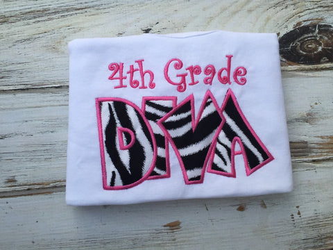 Girls Back to school shirt, 4th Grade Diva