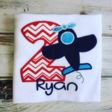 Airplane 2nd birthday shirt