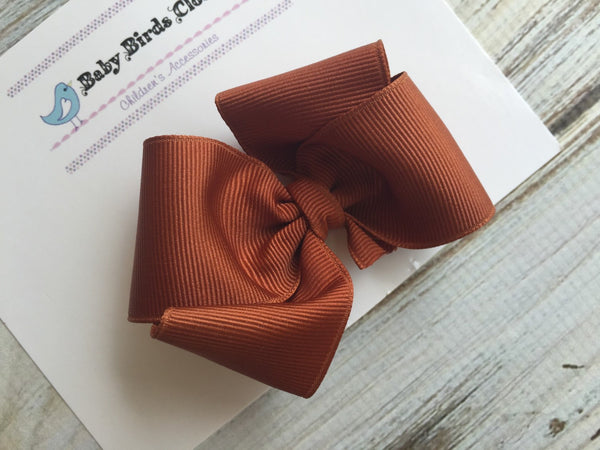 Small Burnt Orange Bow