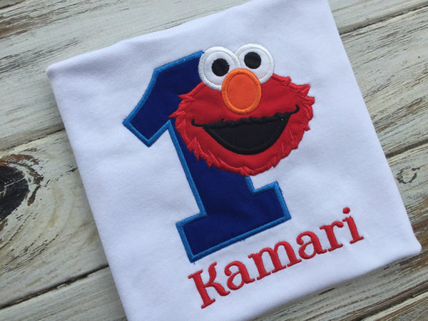 Elmo 1st Birthday shirt or onesie