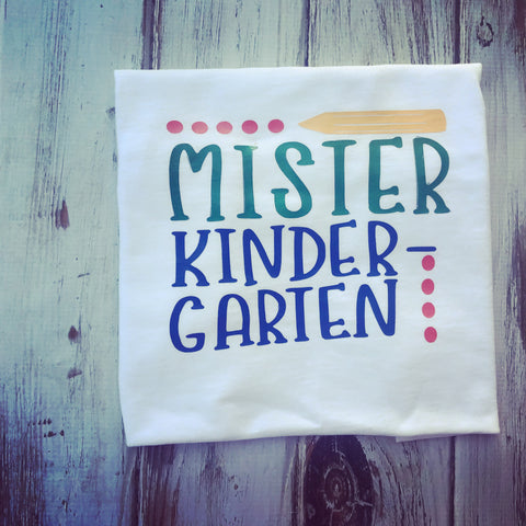 Mister Kindergarten back to school shirt