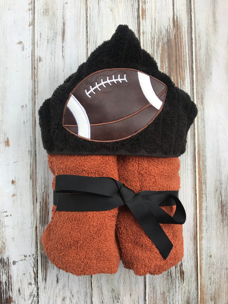 Football Hooded Towel