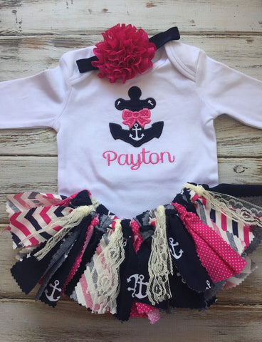 Girls 3 piece nautical outfit