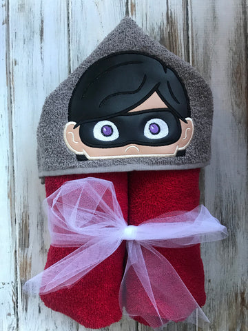 Incredibles Hooded Towel , Violet Hooded Towel
