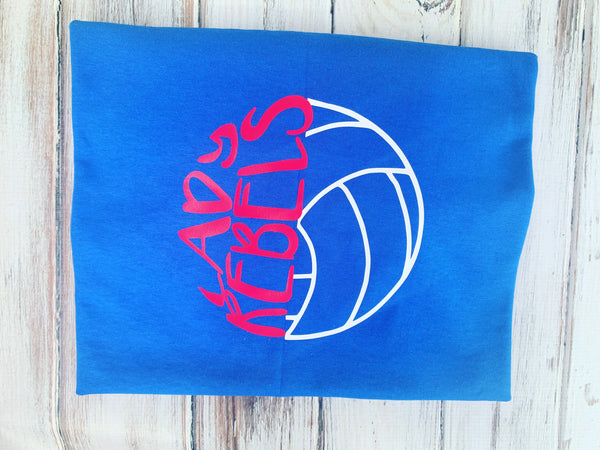 Lady Rebels Volleyball shirt Front only